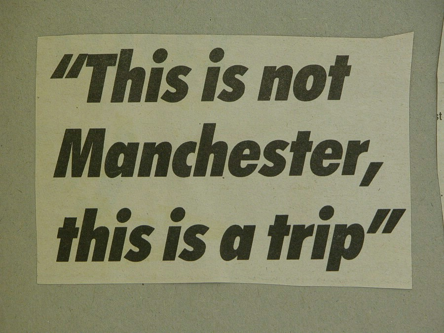 Newspaper cutting this is not manchester